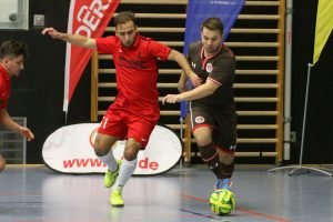 Sparta Futsal HSC überraschte im Spiel um den dritten Rang und schlug den FCSP. Foto: Heiden
