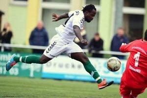 Wird Eric Agyemang in der kommenden Saison für den Wedeler TSV auflaufen? Foto: KBS-Picture